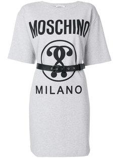 платье-футболка с поясом  Moschino