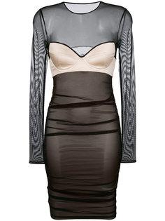 платье-бюстье с прозрачными панелями Faith Connexion
