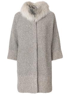 пальто с меховым воротником Fabiana Filippi