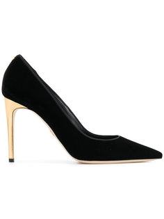 туфли-лодочки на контрастном каблуке Dsquared2