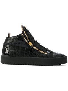 кроссовки с тисненым эффектом крокодиловой кожи Giuseppe Zanotti Design