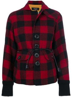 куртка с принтом тартан  Dsquared2