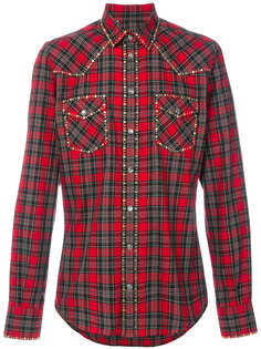 рубашка в клетку Dolce & Gabbana