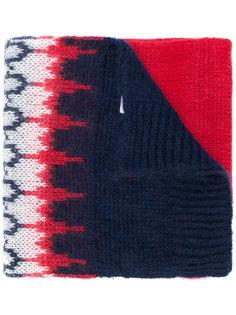 трикотажный шарф с вышивкой Moncler