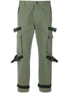 брюки с контрастными лямками Marcelo Burlon County Of Milan