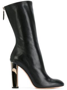 сапоги на контрастном каблуке Alexander McQueen