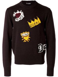 свитер с нашивками Dolce & Gabbana