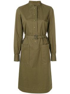 платье-рубашка с поясом  A.P.C.