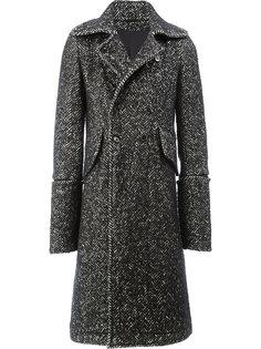 длинное двубортное пальто Ann Demeulemeester