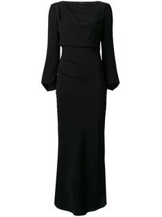 длинное драпированное платье Giorgio Armani