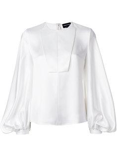 блузка с длинными пышными рукавами Giorgio Armani