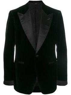 пиджак-смокинг с простроченной отделкой Tom Ford
