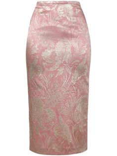 жаккардовая юбка-карандаш Rochas