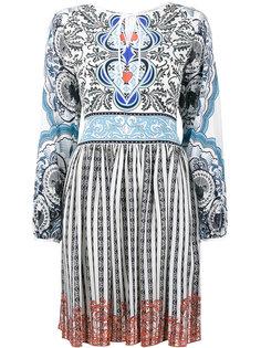 расклешенное шелковое платье Kings Mary Katrantzou