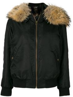 куртка-бомбер с отделкой искусственным мехом  Mr & Mrs Italy