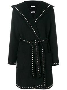пальто с поясом и заклепками  P.A.R.O.S.H.