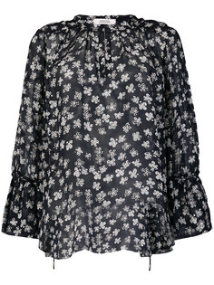 полупрозрачная блузка с цветочным узором  Dorothee Schumacher