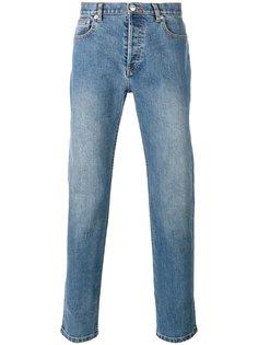 прямые джинсы с потертостями A.P.C.
