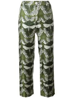 укороченные брюки с принтом бабочек  F.R.S For Restless Sleepers