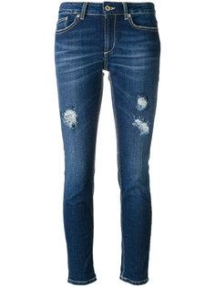 джинсы кроя скинни с потертой отделкой Dondup