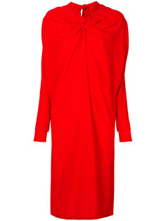 платье-миди с декоративным узелком и драпировкой Marni