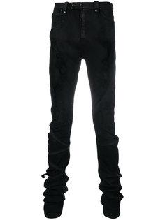 джинсы скинни с эффектом потертости  Unravel Project