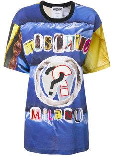 футболка с логотипом Moschino Milano Moschino