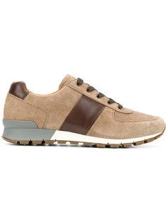 кроссовки с контрастными полосками Prada