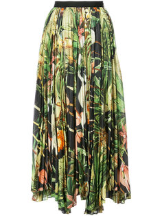 плиссированная юбка с принтом Adam Lippes