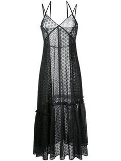 кружевное платье с присборенной отделкой Le Ciel Bleu