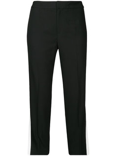 укороченные брюки с полосками по бокам Le Ciel Bleu