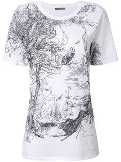 футболка с принтом Nature Alexander McQueen
