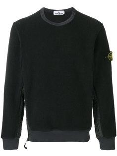 текстурированный свитер с панельным дизайном Stone Island