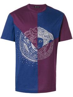 футболка Medusa с панельным дизайном и заклепками  Versace