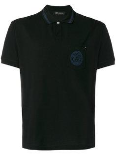 рубашка-поло с контрастным воротником Versace