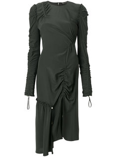 платье со сборкой и шнурком  Versace