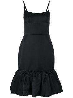 платье с подолом с рюшами Prada