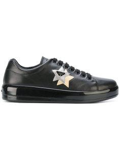 кроссовки со звездами и логотипом Prada