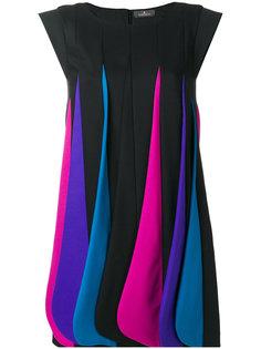 платье разноцветными панелями Capucci