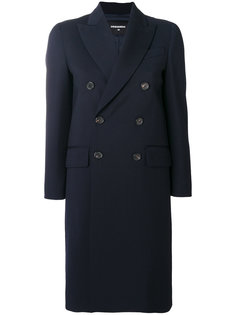 приталенное двубортное пальто  Dsquared2