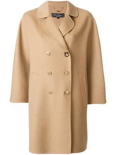 двубортное пальто свободного кроя Salvatore Ferragamo