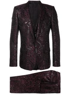 жаккардовый костюм-тройка  Dolce & Gabbana