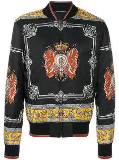 куртка-бомбер  с принтом royal  Dolce & Gabbana