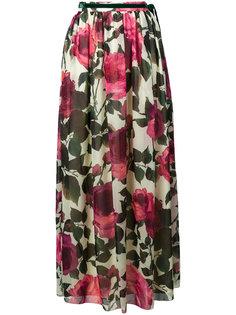 плиссированная юбка с цветочным принтом  Blugirl