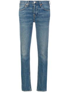 эластичные джинсы скинни с заниженной талией  Re/Done