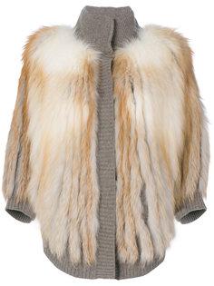 пальто с трикотажной отделкой  Liska