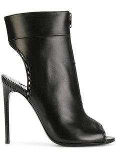 ботинки с открытым носком на шпильке Tom Ford