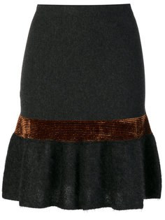 юбка с металлизированной вставкой и баской D.Exterior