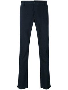 фактурные брюки прямого кроя Armani Jeans
