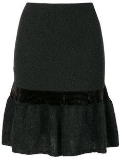 юбка с баской и отделкой металлик  D.Exterior
